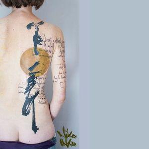 #calligraphytattoo #graphictattoo #NikoInko