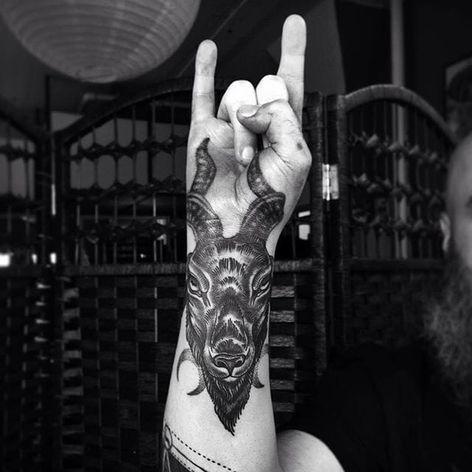 Awesome placed Black Phillip. (via IG—meagan_blackwood) #BlackPhillip #Goat #666 #Devilish #Devil #Satan #SatanicGoat