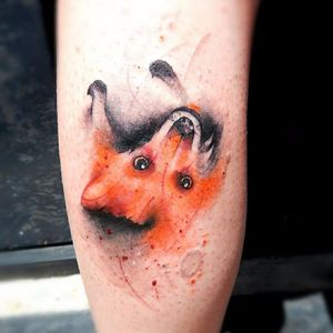 Raposinha preguiçosa! #MarcoMedeiros #colorida #colorful #aquarela #watercolor #tatuadoresdobrasil #raposa #fox