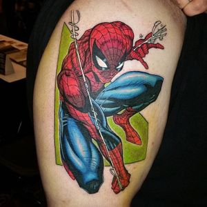 Spider-Man Tattoo by Zac Kinder #SpiderMan #Marvel #Superhero #Comic #ZacKinder