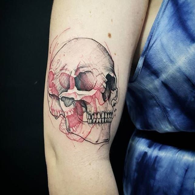 #ViniciusScalfone #brasil #brazil #brazilianartist #tatuadoresdobrasil #sketch #skull #caveira #cranio #pontilhismo #dotwork
