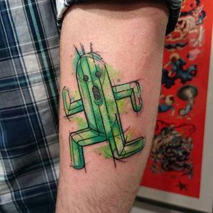 Cactus Tattoo by Loreen2l #cactus #cactustattoo #watercolor #watercolortattoo #sketch #sketchtattoo #watercolorsketch #sketchwatercolor #abstractwatercolor #Loreen2L
