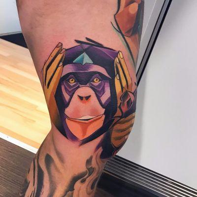 #SpendloTattoo #MatejMartius #coloridas #colorful #sketch #tatuadorgringo #macaco #monkey