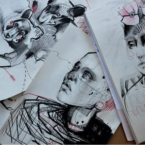 Some stunning illustrations by Katarzyna Krutak #KatarzynaKrutak #graphictattoo #illustration