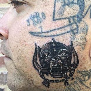 Motorhead tattoo by Dan Smith #DanSmith #musictattoo #Motorhead #lemmy #skull #chains #horns
