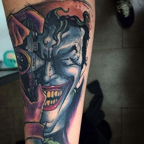 Killing Joke Tattoo by César Castillo Marquez #thekillingjoke #killingjoke #batman #batmanjoker #joker #dccomics #comicbook #CesarCastilloMarquez