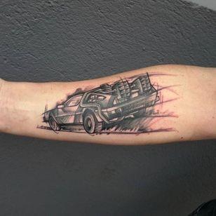 Delorean Tattoo by Loreen2l #delorean #deloreantattoo #watercolor #watercolortattoo #sketch #sketchtattoo #watercolorsketch #sketchwatercolor #abstractwatercolor #Loreen2L