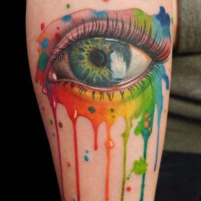 Lindo realismo #OrgulhoGay #GayPride #OrgulhoLGBT #ParadaGay #GayParade #preconceitoNao #amorlivre #freelove #arcoiris #rainbow #realismo #realism #olho #eye #colors #cores #watercolor #aquarela
