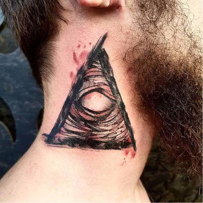 #ThiagoMello #sketch #blackwork #tatuadoresdobrasil #triangulo #triangle #horus #olhoquetudove