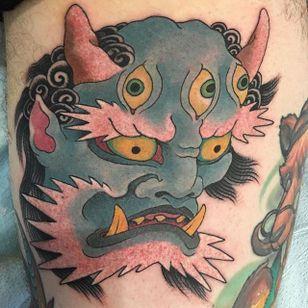 Oni Tattoo by Lango Oliveira #oni #japanesemask #japanese #japaneseart #irezumi #LangoOliveira