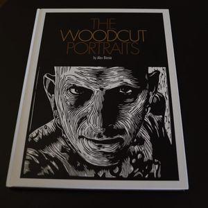 The cover of Alex Binnie's The Woodcut Portraits. #AlexBinnie #artbook #fineart #KintaroPublishing #portraiture #prints #woodcuts