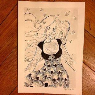 Tattooed illustration by Paupiette #Paupiette #comicstrip #comics #illustrative #art #illustration