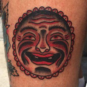 Bert Grimm Sun Tattoo by Josh McDowell #sun #bertgrimm #bertgrimmsun #bertgrimmdesign #classicsun #traditional #JoshMcDowell