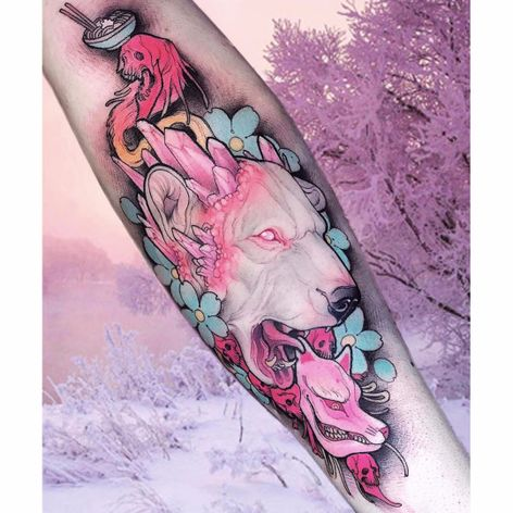 Por Brando Chiesa! #BrandoChiesa #WhiteTattoo #Neotrad #Newtraditional #Oriental #Orientaltattoo #Japanesetattoo #bear #ursopolar #urso #polarbear