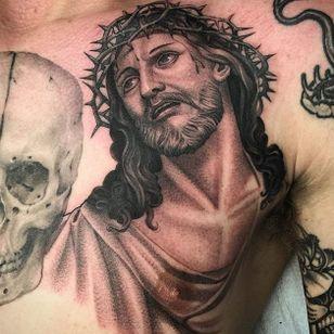 Jesus via @juan_teyer #JuanTeyer #blackandgrey #portrait #jesus #religious