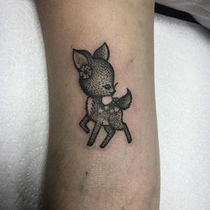 Deer Tattoo by Sarah Whitehouse #deer #deertattoo #dotworkanimal #dotwork #dotworktattoo #animal #SarahWhitehouse