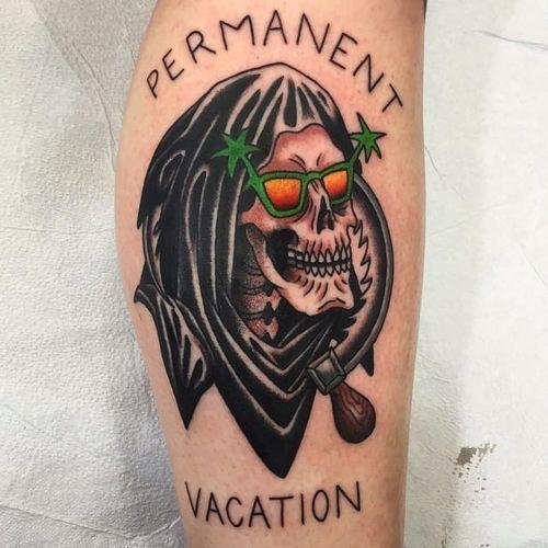 Feita pro Jack Mauk #JackMauk #ceifador #ceifeirotattoo #reapertatto #reaper #grimreaper #morte #death #skull #caveira #sunglasses #oculosdesol #ferias #vacation #funny #divertida