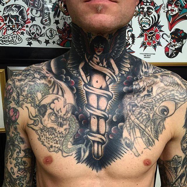 Angel Tattoo by Matt Andersson #angel #traditional #traditionalartist #oldschool #classic #boldwillhold #MattAndersson
