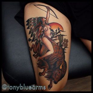 Native American Tattoo by Tony Nilsson #NativeAmerican #traditional #classictattoos #TonyNilsson