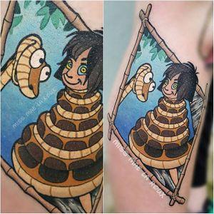 Kaa Tattoo by Mae La Roux #DisneyVillain #Disney #JungleBook #MaeLaRoux