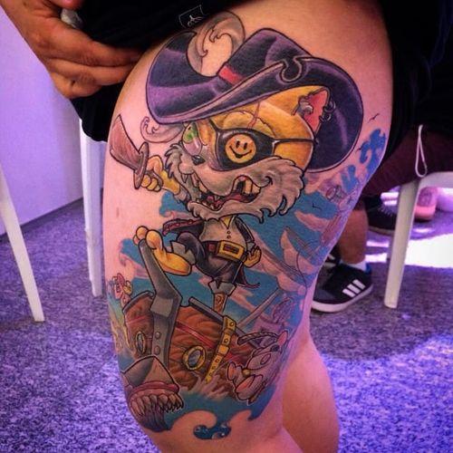 #pirata #pirate #barco #ship #newschool #DouglasScherer #brasil #brazil #portugues #portuguese #coloridas #colorful