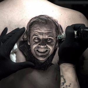 Jack Nicholson by Ralf Nonnweiler #RalfNonnweiler #blackandgrey #realism #realistic #hyperrealism #JackNicholson #movie #movietattoo #actor #portrait #tattoooftheday