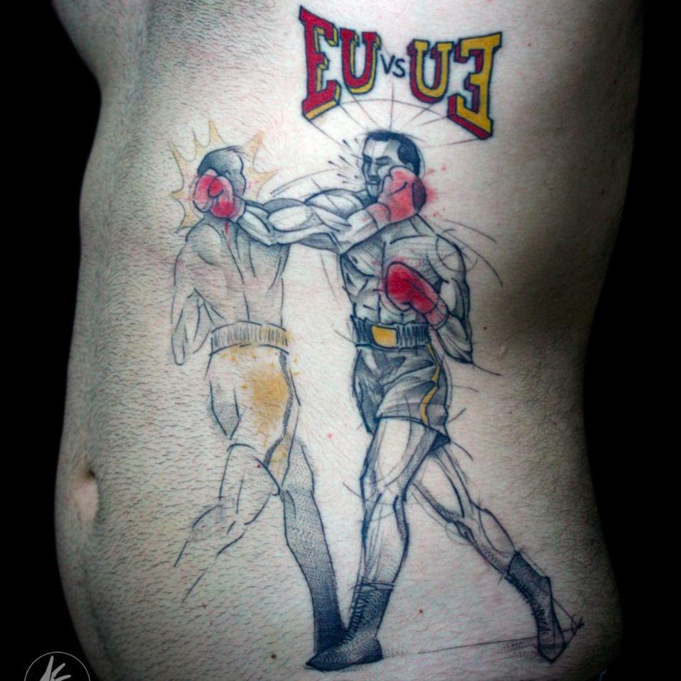 Tattoo por Taiom! #Taiom #Tatuadoresbrasileiros #TattooBrasil #TattooBr #TattoodoBr #conceitual #concept #conceptual #fighters #fight #luta #lutadores