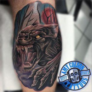 Werewolf Tattoo by Amy Lynn Colson #wolf #werewolves #werewolf #horror #horrorcreature #halloween #AmyLynnColson