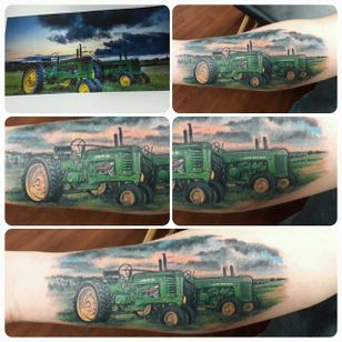 John Deere tractors by Nichols Haney (via IG -- nicholas_haney) #nicholashaney