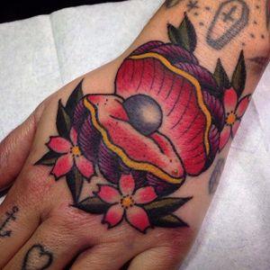 Clam Tattoo by Joakim Rosenberg #clam #clamtattoo #clamtattoos #shell #shelltattoo #shelltattoos #oceantattoos #JoakimRosenberg
