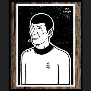 The Spock by Mr Heggie. #mrheggie #art #startrek #mrspock