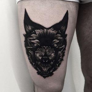 Wolf tattoo by Rud De Luca #blackwork #blckwrk #blackworktattoos #blackworktattooing #darktattoos #darkblackwork #bestblackwork #sketchtattoos #sketchtattooing #RudDeLuca