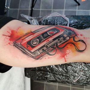Fita k7 #JosieSexton #gringa #watercolor #aquarela #fitak7 #tape #k7 #musica #music #vintage