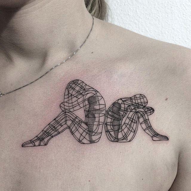 Pointillism tattoo by Anna Neudecker. #pointillism #dotwork #AnnaNeudecker #burningman #installationart #art