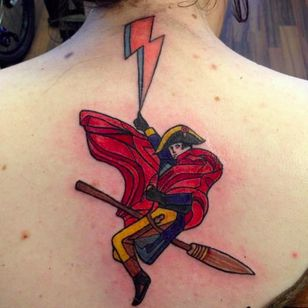 Is this a Harry Potter tattoo? (via IG -- petrieart) #napoleon #harrypotter