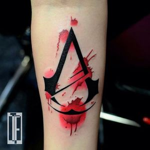 Assassins Creed Tattoo by Hami Iffy-Négyökrű #assassinscreed #assassinscreedtattoo #assassinscreedtattoos #gamingtattoo #gamingink #gamaingtattoos #gamerink #gamertattoo #gametattoo #ubisoft #HamiIffyNegyokru