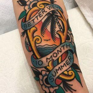 Scenic Tattoo by Matt Cannon #traditional #traditionaltattoo #traditionaltattoos #oldschool #oldschooltattoo #classictattoo #MattCannon