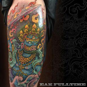 Mahakala Tattoo by Eak Fulltime #mahakala #mahakalatattoo #mahakalatattoos #kali #hindu #hindutattoo #deity #deitytattoo #EalFulltime