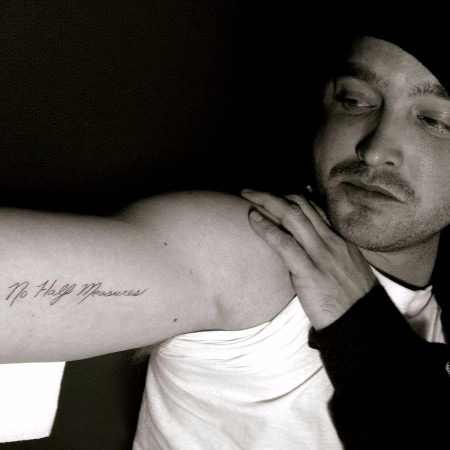 Aaron Paul's breaking bad tattoo. #CelebrityTattoos #CastTattoo #MovieTattoo #BreakingBad