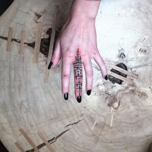 Blackwork finger tattoo. #NastasjaBarashkova #abstract #contemporaryart #blackwork