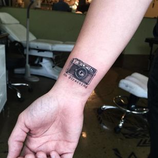Photography tattoo by June Jung. #photography #camera #photo #photographer #contemporaryart #JuneJung
