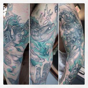 Cool sleeve Tattoo by Gianpiero Cavaliere @Struggle4pleasure #GianpieroCavaliere #Neotraditional #Oddtattoo #Voidtattoostudio #Torino