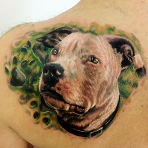 Tatuagek feita por Kobay Kronik #KobayKronik #cachorros #dog #mascote #brasil #portugues