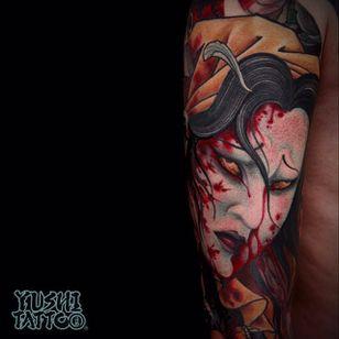 Namakubi Tattoo by Yushi #namakubi #japanese #asian #oriental #korean #koreanartist #Yushi