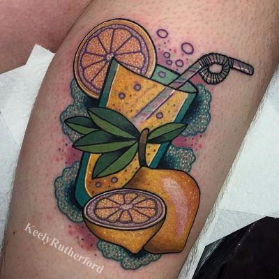 When Life Gives You Lemonade Tattoos (via IG—keelyrutherford) #Lemonade #Lemons #Summer