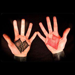 Tattoo by Cammy Stewart #RedandBlack #RedandBlackTattoos #Blackwork #Dotwork #Geometric #Abstract #CammyStewart