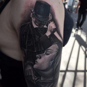 Jack the Ripper tattoo by GD Villalon. #JacktheRipper #serialkiller #history #england #london #killer #blackandgrey