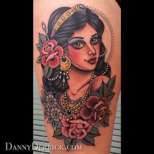 Gypsy woman. (via IG - dannyderrick) #DannyDerrick #Traditional #TraditionalLady