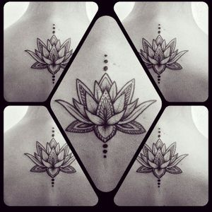 Blackwork Lotus Tattoo by Loulou Poison #lotus #lotusflower #lotustattoo #lotustattoos #blackworklotu #blackworklotustattoo #blackwork #blackworktattoos #LoulousPoison #linework #dotwork #btattooing #blckwrk