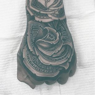 OG Abel tattoo by Joel #OGAbel #art #chicano #blackandgrey #JoelTattoos #moneyrose #rose #dollar #money #rosemorph
